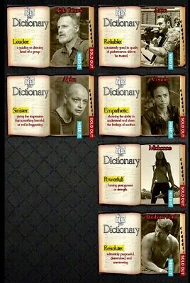 DICTIONARY Wave 1 PARCHMENT 6 CARD SET Topps WALKING DEAD DIGITAL TRADER
