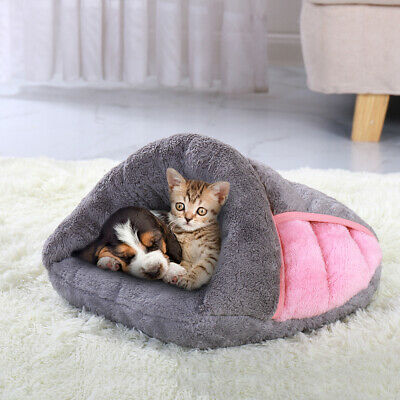 Soft Cozy Pet Cat Dog Winter Bed House Puppy Nest Mat Pad Kennel Small Medium