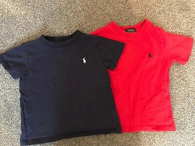Toddler Boys Polo Ralph Lauren T Shirts X2 Age 2