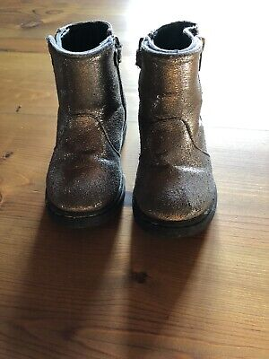 Toddler Girl Barbie Silver Sparkle Ankle Boots Size C6