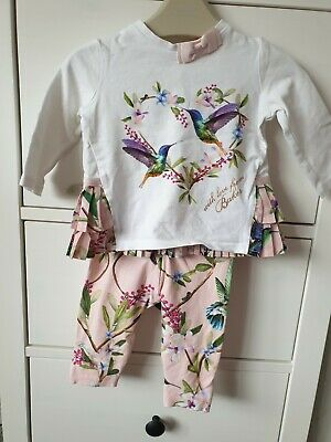 Baker By Ted Bake 3-6 Month Outfit Hummingbirds