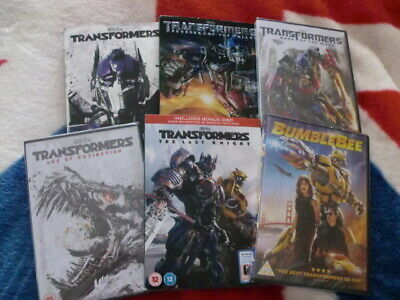 TRANSFORMERS: THE COMPLETE 6 MOVIE COLLECTION inc BUMBLEBEE *SEALED* 99p