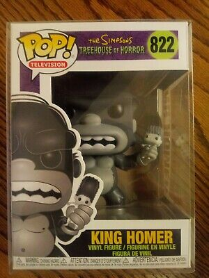 The Simpsons #822 King Homer Kong Funko Pop! Treehouse of Horror W/Pop Protector