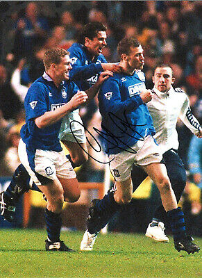 Duncan Ferguson Everton 16 x 12 inch hand signed authentic football photo SS174E