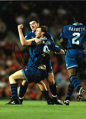 Duncan Ferguson Everton 16 x 12 inch hand signed authentic football photo SS174H