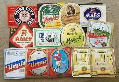 World wide nice lot of all different Beer labels XII