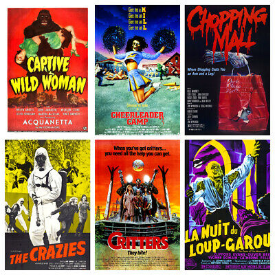 Vintage Horror Film Posters Vol 2 A3 - Classic Movie Prints Home Decor Wall Art