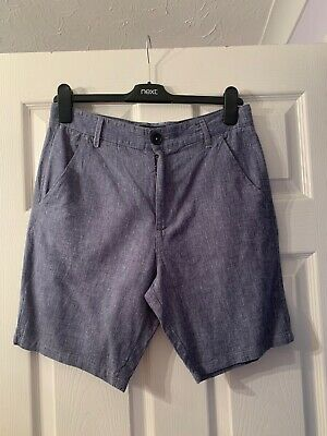 NEXT Boys Age 14 Years Blue Smart Shorts