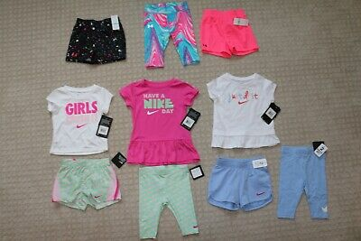 Girls Baby toddler  Nike & Under Armour Lot 10 piece 18 months  All New Tags on