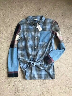 Girls River Island Shirt Top With Tie Front Age 9/10 Years Brand New With Tags