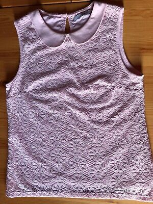 Girls Marks & Spencer Girls Pink Lace Top Age 11-12