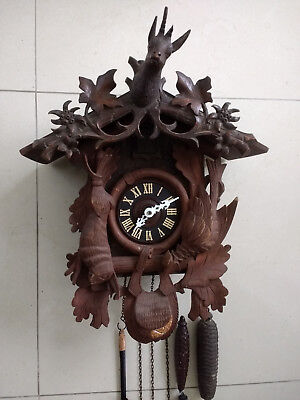Vintage cuckoo clock Black Forest wall clock made in Germany