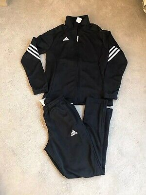 Boys Black Adidas Climalite Tracksuit Age 11/12 Years