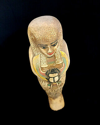 Huge Ancient Ushabti Egyptian W/T Scarab Bc Shabti Egypt C Antique Statue art