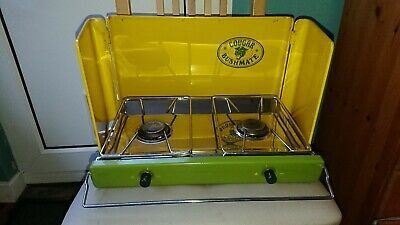 VINTAGE COUGAR BUSHMATE  Camping Folding Double Burner Stove Portable Cooker GAS