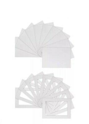 "25 x White Bevel-Cut Picture & Photo Mounts Plus Backing Boards (10"" x 8"")"