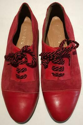 Size UK4/37 Pointer Red Leather & Suede Lace Up Shoes