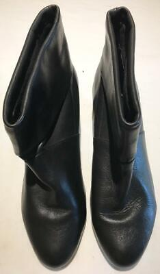Size UK8/42 Long Tall Sally Black Leather Ankle Boots