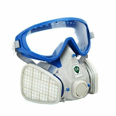 New Double Filter Full Face Gas Mask Breath Respirator Painting Dust Protector