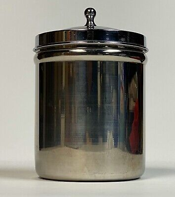 Vollrath 8801 Stainless Steel Canister & LidMedical Doctor Glasco Chrome Vintage
