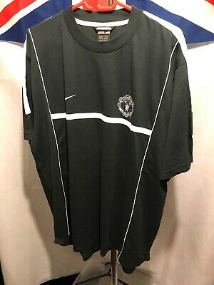 Nike Manchester United Black & White Training Shirt Size Xl G330