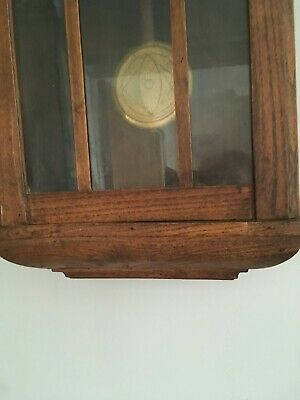 ANTIQUE MAHOGANY WALL CLOCK,GOOD ORDER, Late 1800's or early 1900's