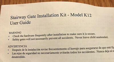 KidCo Stairway Gate Installation Kit K12 - Two Kits Included