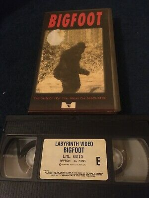 Bigfoot Rare Vhs Video
