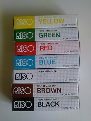 RISO Print Gocco 7 Colors HiMesh INK for Paper SCREEN PRINT NEE
