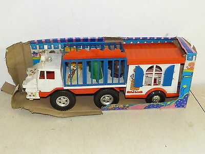 MOB Superjouet Circus LKW Camion Spielzeug Toy Kunststoff 70er Jahre OVP France