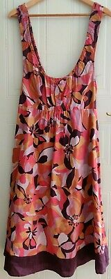Blooming Marvelous size 14 maternity dress floral purple pink pregnancy summer