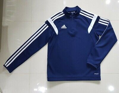 Adidas - Boys Navy Part Zip Top Size YM Aged 9-10 (See Info)