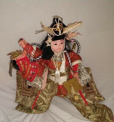 Japanese Traditional Doll, Momotaro figure 10""