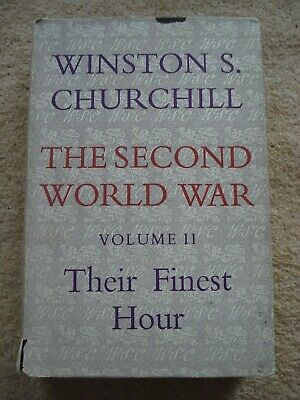 Their Finest Hour by Winston Churchill - Vintage Hardback Book with Cover 1951