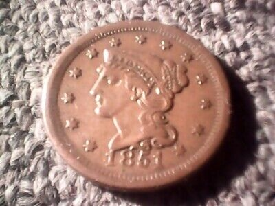 1851 Braided Hair Liberty Large Cent