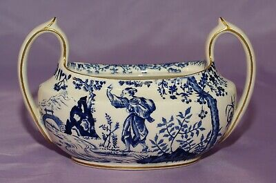 1951 Royal Crown Derby BLUE MIKADO Two Handled Sugar Bowl