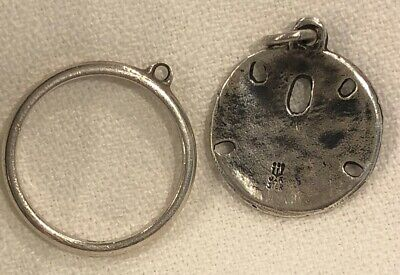 Vintage Discontinued JAMES AVERY STERLING SILVER SAND DOLLAR Charm Ring SZ 6.5