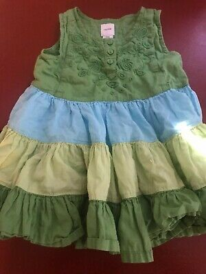 Baby Gap 3-6 Months Girls/infant Summer Dress Pre-owned 100% Cotton Super Cute