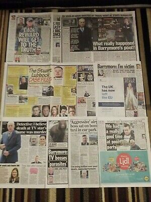 MICHAEL BARRYMORE NEWSPAPER cuttings clippings recent life issues