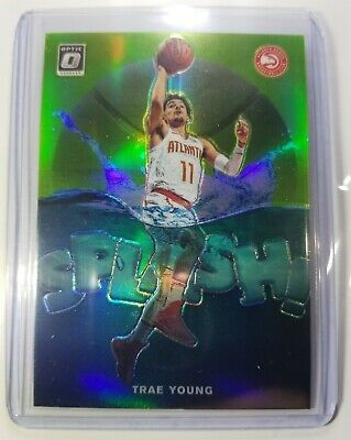 2019-2020 Trae Young Splash Insert Panini Donruss Optic Lime 004/149 SP Rare