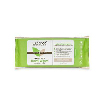 Wotnot Biodegradable Natural Travel Wipes Australian Made - Soft Pack 20 sheets