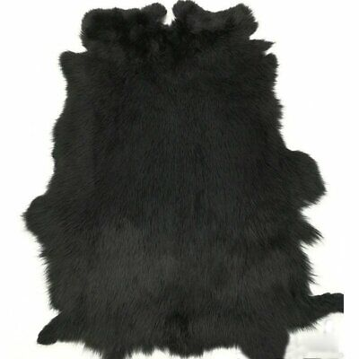 """Genuine Natural Rabbit Fur Skin Tanned Leather Hides Craft Gray Pelts 16/""""x9/"""" New"""