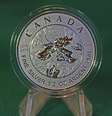 2019 CANADA $4 Silver Maple Leaf 1/2 oz Reverse proof from Fractional set