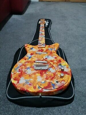 DANELECTRO DC59 Psychedelic Electric Guitar With Soft Case Eric Clapton