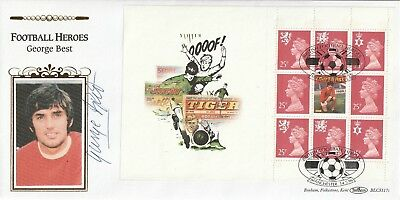 14 May 1996 Signed By George Best Footbll Legends Pane Benham Fdc Manchester Shs