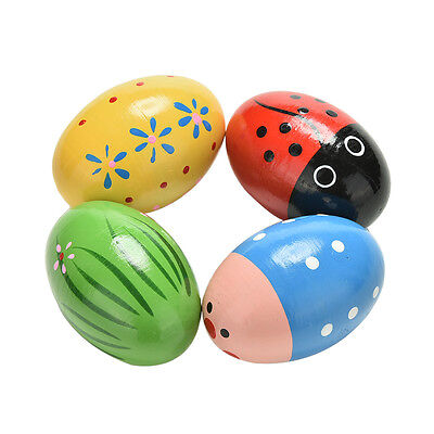 1 Pcs Wooden Sand Eggs Children Kids Baby Educational Instruments Musical Toy