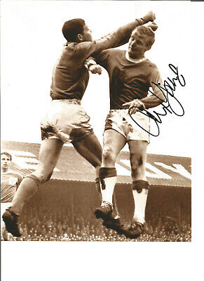 Alex Young Everton 12 x 8 inch hand signed authentic football photo SS181B