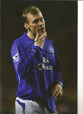 Duncan Ferguson Everton 12 x 8 inch hand signed authentic football photo SS175A