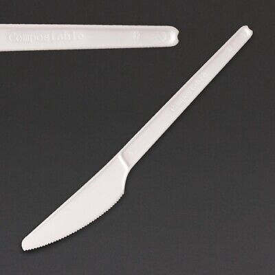 Fiesta Green Compostable CPLA Knives White Pack of 100