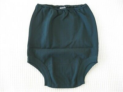 "VINTAGE Bottle Green CHERUB NYLON School Gym Knickers Age 16 W32-35"" -NEW 24/03"